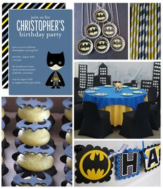Planning a super birthday party? Throw your little Batman a fun-filled superhero celebration.