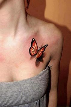 not a butterfly tattoo person, but I love the shadow effect