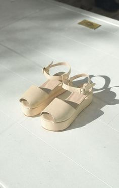 Anaïse | Maryam Nassir Zadeh Tine Platform Sandal, Nude