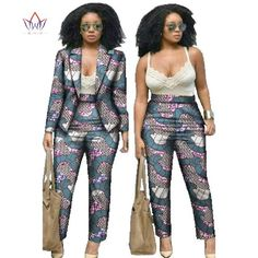 African Dresses for Women Suits Women Winter Two Piece Set Top and Pants Women Blazers and Jackets Women Clothes BRW African Dresses For Women, African Wear, African Attire, African Fashion Dresses, African Suits, Ankara Fashion, Women's Fashion, Fashion Design, Blazers For Women