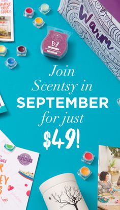 Join my team at 50% off in September kac.scentsy.us