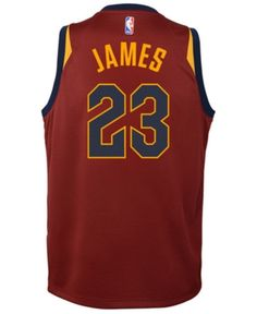 sneakers for cheap 6bada 581c7 Nike Lebron James Cleveland Cavaliers Icon Swingman Jersey, Big Boys (8-20)