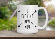 I Fking Love You Mug Gift for Wife Husband Spouse Fiance I