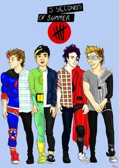 Cartoon Drawings 5SOS Don't Stop | 5SOS - Don't Stop by xoloves