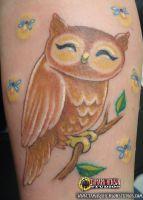 Tattoo: Custom Owl by briescha