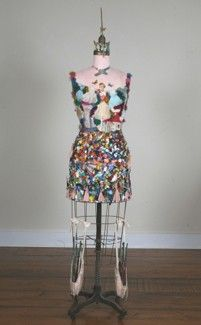 Paintress, mixed media on dress form by Fay Sciarra