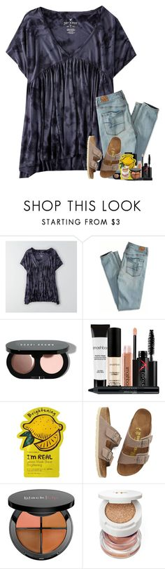 """one of my best friends birthday parties todayyy"" by classyandsassyabby ❤ liked on Polyvore featuring American Eagle Outfitters, Bobbi Brown Cosmetics, Smashbox, TONYMOLY, Birkenstock, Sephora Collection and Tom Ford"