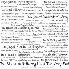 you stuck with harry until the very end.