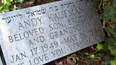 Cemetery Monuments, Cemetery Headstones, Old Cemeteries, Cemetery Art, Graveyards, Andy Kaufman, Famous Tombstones, Memorial Markers, Famous Graves
