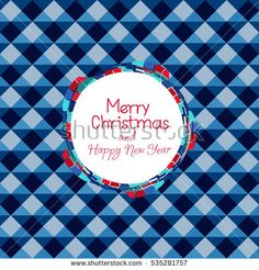 Poster Merry Christmas. Shiny blue geometric background. Seamless pattern abstract. Vector backdrop. Bright triangular cell.
