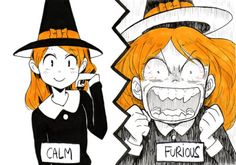 Inktober day 21 : furious Ok, something funny because it's sunday evening! Anime Halloween, Halloween Art, Art Inspiration Drawing, Character Design Inspiration, Magia Elemental, Dark Art Illustrations, Artist Alley, Halloween Painting, Cute Art Styles