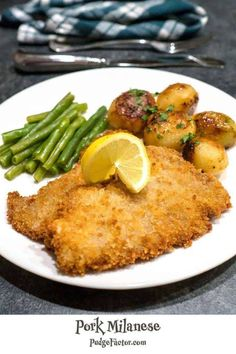 When we travel in Europe, I look forward to Pork Milanese. It's similar to a schnitzel, but tends to be breaded with Panko as opposed to regular breadcrumbs. Easy Meat Recipes, Pork Recipes, Easy Dinner Recipes, Cooking Recipes, Recipies, Pork Milanese, Pork Sirloin Cutlets Recipe, Pork Chops, Dish