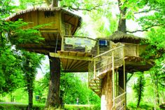 A tree house in Paris and it's for rent! (source: http://www.travelinggreener.com/accommodation/a-tree-house-in-paris/)