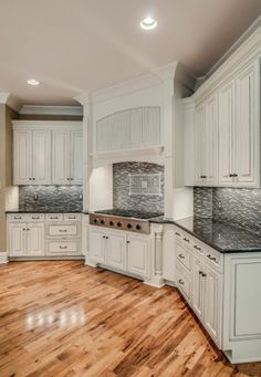 kitchen with backsplash painted using general finishes milk paint in snow white 13875