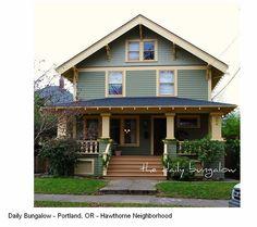 narrow 2 story craftsman house - Google Search
