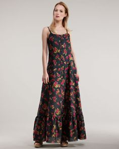 Johnny Was Collection Floral-Print Maxi Dress