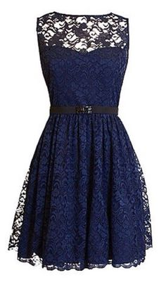 Cute navy laced dress