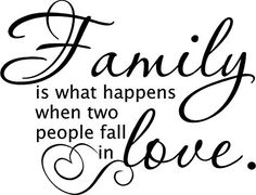 Family Is What Happens When Two People Fall In Love Vinyl Wall Decal Sticker Art