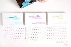 Armelle Blog: new DIY business cards ...