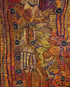 Doris Bush Nungarrayi / Tjurrpinyi (Swimming at Haasts Bluff), 2012  152 x 122 cm