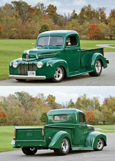 Vintage Trucks Muscle The best vintage cars hot rods and kustoms - Classic Pickup Trucks, Old Pickup Trucks, Ford Classic Cars, Hot Rod Trucks, Lifted Ford Trucks, Cool Trucks, Chevy Trucks, Dually Trucks, Truck Drivers