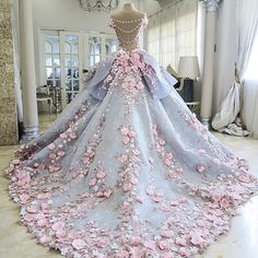 So Cinderella-like! Imagining the birds and mice putting this together <3 // Dress: Mak Tumang
