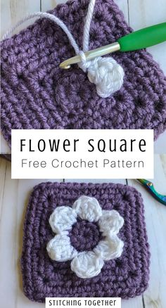 Join us for a crochet along where what you make is completely up to you. Start with these adorable crochet flower squares and end with a creation of your own design. Knitting PatternsKnitting For KidsCrochet PatronesCrochet Baby Crochet Flower Squares, Crochet Squares Afghan, Crochet Motifs, Granny Square Crochet Pattern, Crochet Flower Patterns, Crochet Stitches Patterns, Crochet Afghans, Crochet Flowers, Crochet Square Blanket