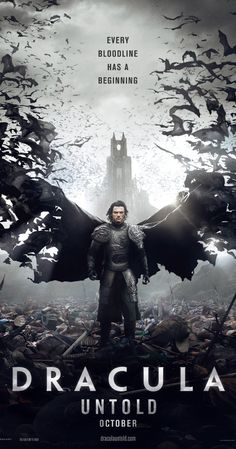 Dracula Untold (2014)~Good special effects, weak plot; based upon the conclusion, I'd say there is definitely a sequel in the works.