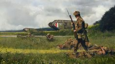 , Lukas Esch on ArtStation at… Military Art, Military History, Ww1 Tanks, Ww1 Art, Deadly Animals, D Day Normandy, Military Drawings, Military Modelling, War Photography