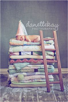 newborn photography, princess and the pea ;)