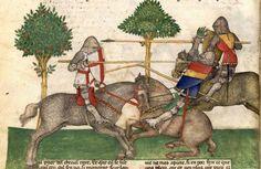 1380-1385, Milan, Italy Manuscript: BNF Français 343 Queste del Saint Graal / Tristan de Léonois