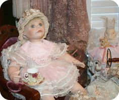 Dolly & Bunnies TeaParty! by Sherry's Rose Cottage, via Flickr