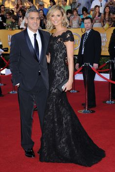 SAG Awards couples: George Clooney and Stacey Keibler