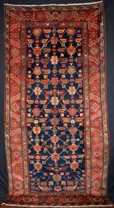 ANTIQUE NORTH WEST PERSIAN KURDISH LONG RUG, BEAUTIFUL, CIRCA 1900  Size: 10ft 1in x 4ft 11in (308 x 150cm)