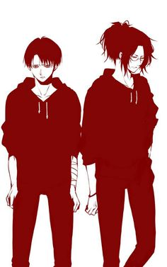 *grabs levi's hand and looks away*