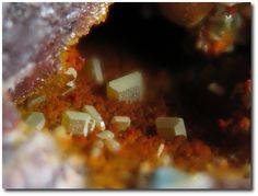 Cyrilovite. La Commanderie mine, Le Temple, Deux-Sèvres, Poitou-Charentes, France FOV=2 mm Photo Jean-Marc Johannet