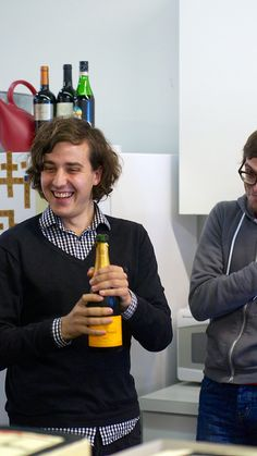 Rob poppin' bottles