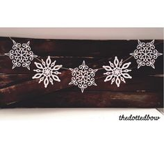 A personal favorite from my Etsy shop https://www.etsy.com/listing/255152993/glitter-snowflake-banner
