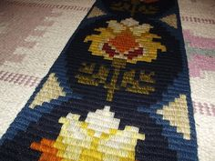 Vintage Swedish Wall Embroidery. Wall Hanging. Wool by Deccorista