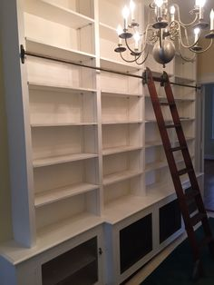 Upstairs Bookcase Wall