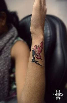 Color Fairy Tattoo Butterfly Wings