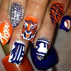 Queen Of Nails Detroit Tigers With Stiletto