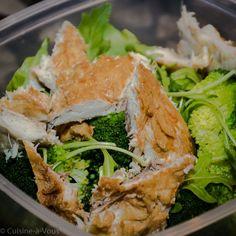 Quinoa met gerookte makreel en broccoli