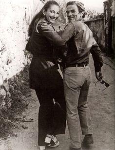 Pier Paolo Pasolini & Maria Callas in Napoli, September 1970 by Mario Tursi Maria Callas, Pier Paolo Pasolini, I Love Cinema, Photo Portrait, Opera Singers, Opera Music, Music Music, Famous Couples, Film Director