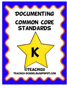 Kindergarten COMMON CORE STANDARDS    Make your life easier with this documenting packet. The packet includes:     *Language Arts Teacher checklist  *Language Arts C.C. standards labels  *Reading book labels  *Writing book labels  *Math teacher checklist  *Math book labels  *Math C.C. Standards labels  *Parent note  *Teacher tip sheet