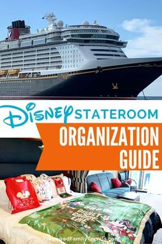 Worried about cabin space on your Disney cruise? Read these Disney Cruise stateroom organization tips before you go to master the art of keeping your cabin neat and organized. Logo Disney, Disney Go, Disney Dream, Orlando Disney, Funny Disney, Disney Travel, Disney Magic, Cruise Travel, Cruise Vacation