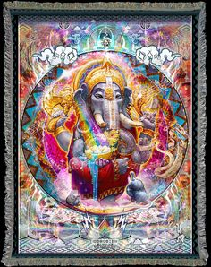 Visionary Art by Somnio8 woven into beautifully detailed Art Blankets. Soft…