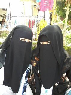 Two ladies wearing the niqab
