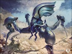 MtG Art: Memnite from Scars of Mirrodin Set by Svetlin Velinov - Art of Magic: the Gathering Robot Animal, Mtg Art, Traditional Paintings, Illustrations And Posters, Sci Fi Art, Magic The Gathering, Fantasy Creatures, Dungeons And Dragons, Fantasy Art