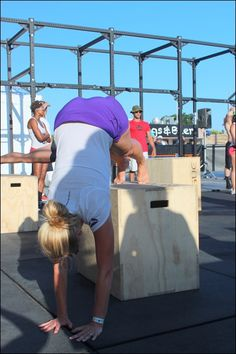 The 2013 Reebok CrossFit Games  Practicing handstands
